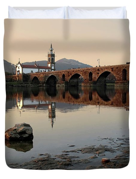 Ancient Bridge Duvet Cover by Carlos Caetano