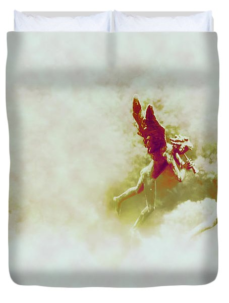 Angel Song Duvet Cover by Bill Cannon