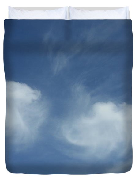 Angel Wings In The Sky Duvet Cover by Carol Groenen