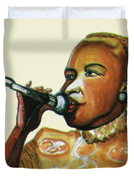 Angelique Kidjo Duvet Cover by Emmanuel Baliyanga