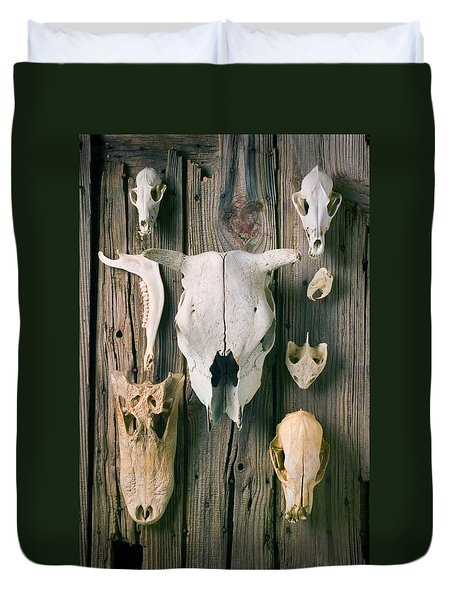 Animal Skulls Duvet Cover by Garry Gay