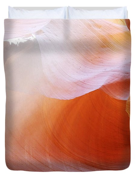 Antelope Canyon Light Beams - Unearthly Beauty Duvet Cover by Christine Till