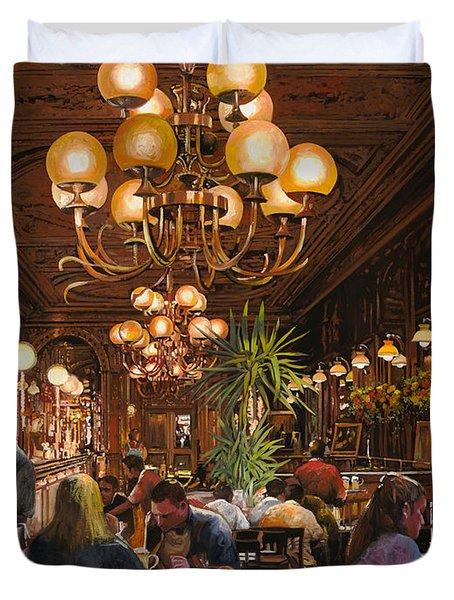 Antica Brasserie Duvet Cover by Guido Borelli