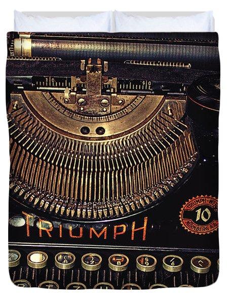 Antiquated Typewriter Duvet Cover by Jutta Maria Pusl