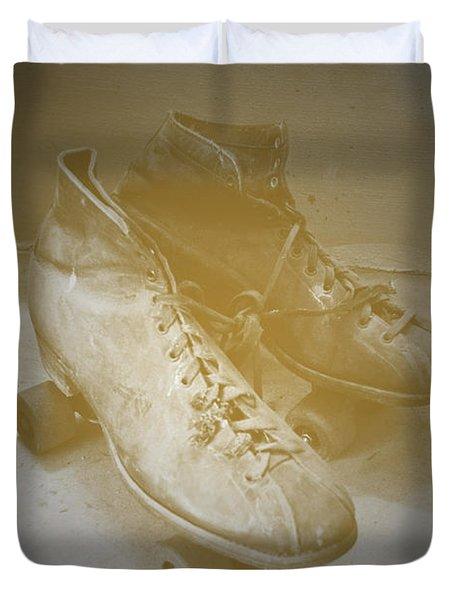 Antique Roller Skates Duvet Cover by Jost Houk
