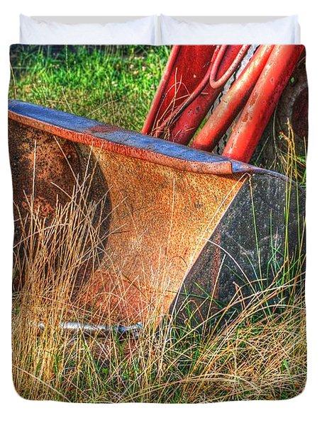Antique Tractor Bucket Duvet Cover by Jennifer Lyon