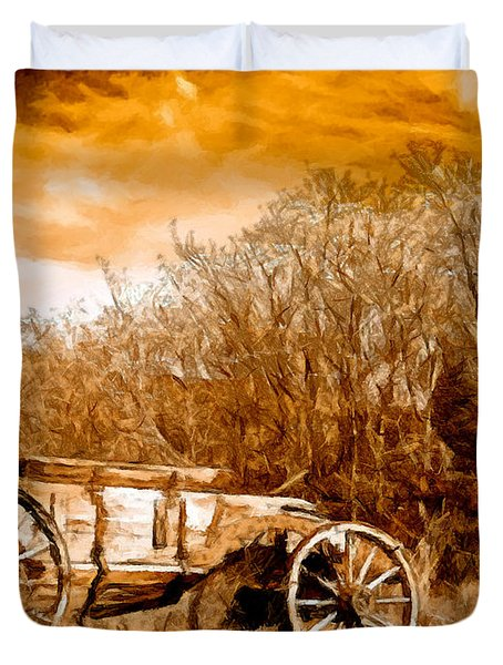 Antique Wagon Duvet Cover by Bob and Nadine Johnston
