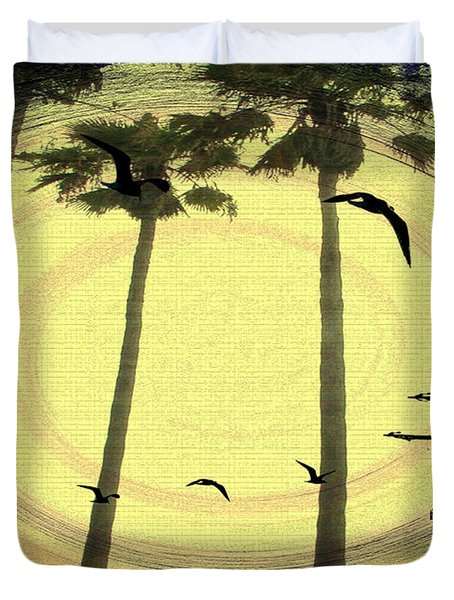 Any Port In A Storm Duvet Cover by Bill Cannon