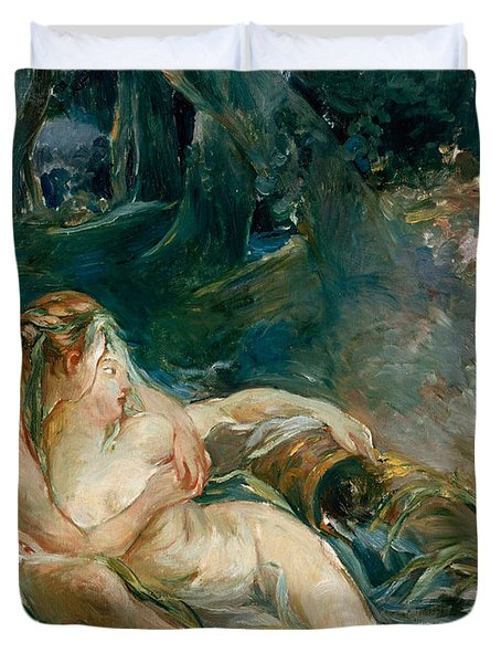 Apollo Appearing To Latone Duvet Cover by Berthe Morisot
