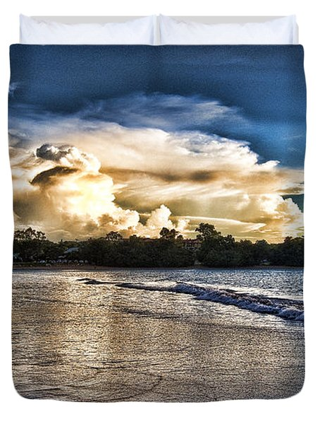 Approaching Storm Clouds Duvet Cover by Douglas Barnard