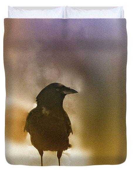 April Raven Duvet Cover by Susan Capuano