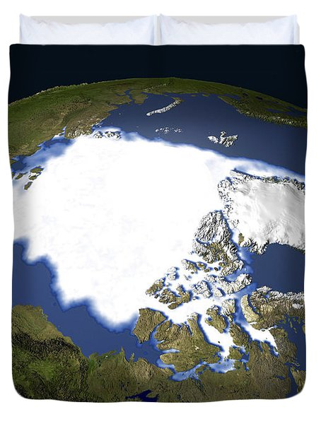 Arctic Sea Ice, 1979 Duvet Cover by NASA / Science Source