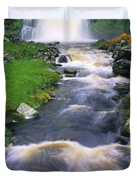 Ardara, Co Donegal, Ireland Waterfall Duvet Cover by The Irish Image Collection