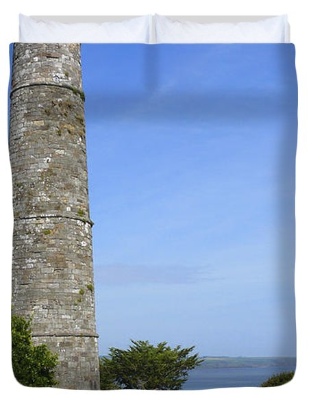 Ardmore Round Tower - Ireland Duvet Cover by Mike McGlothlen