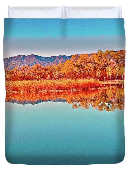 Arizona Dead Horse State Park Duvet Cover by Bob and Nadine Johnston