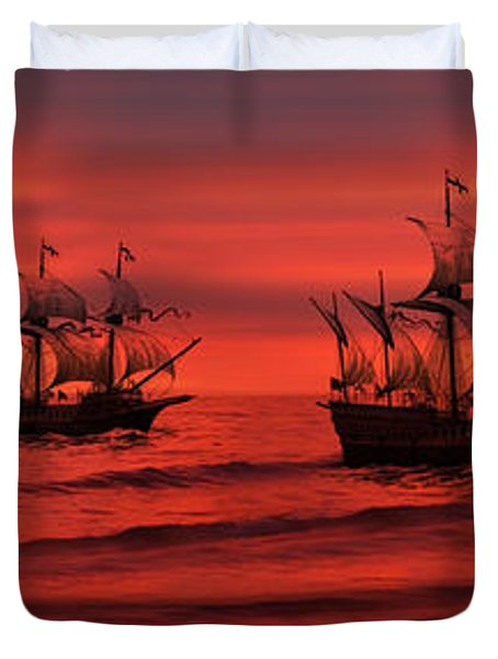 Armada Duvet Cover by Lourry Legarde