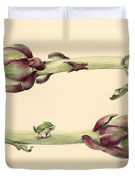 Artichokes Duvet Cover by Alison Cooper