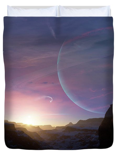 Artists Concept Of A Scene Duvet Cover by Brian Christensen