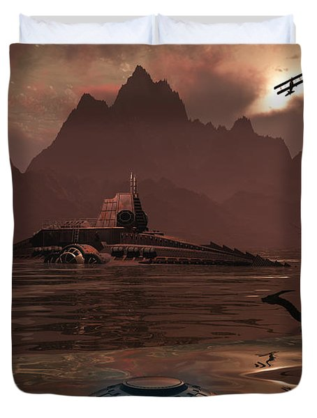 Artists Concept Of An Ancient Duvet Cover by Mark Stevenson