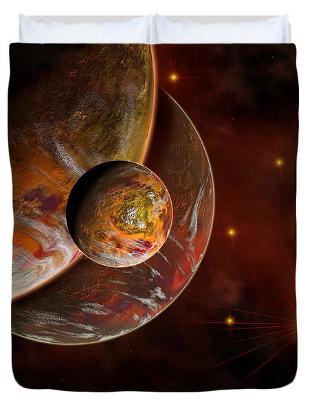 Artists Concept Of The Birth Place Duvet Cover by Mark Stevenson