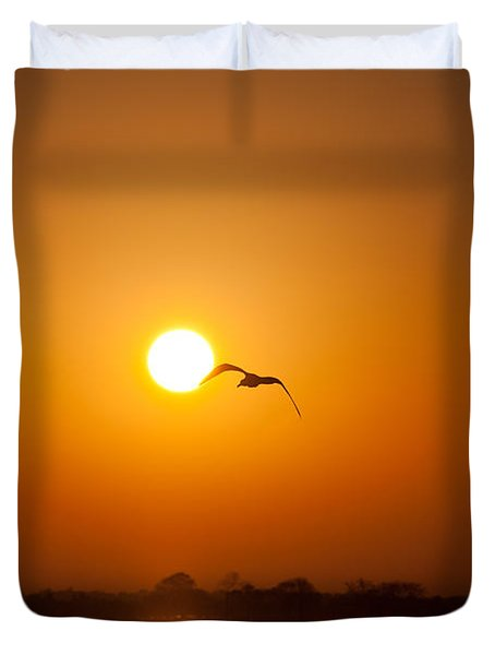 As The Gull Glides Duvet Cover by Karol Livote