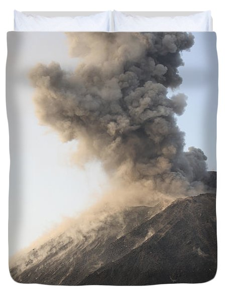 Ash Cloud From Vulcanian Eruption Duvet Cover by Richard Roscoe