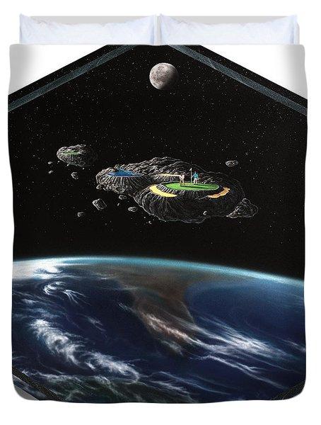 Asteroid Golf Duvet Cover by Snake Jagger