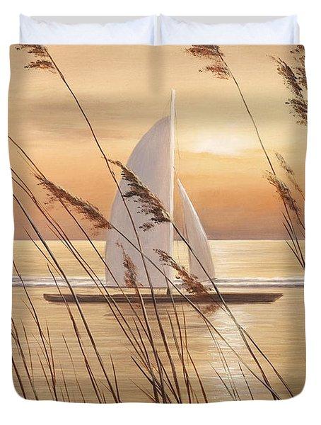 AT LAST Duvet Cover by Diane Romanello