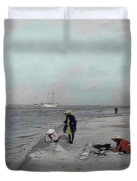 At The Beach Duvet Cover by Andrew Fare