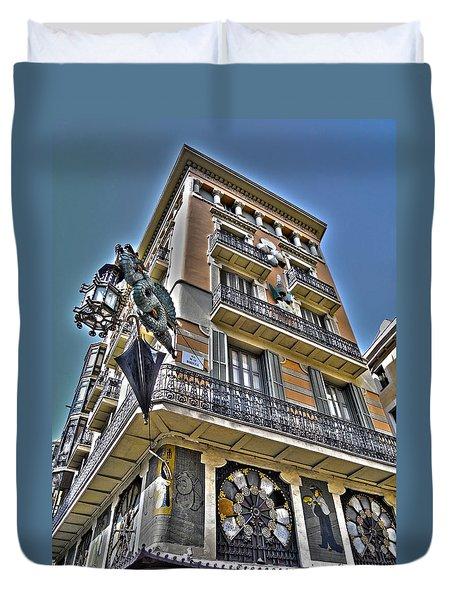 At The Plaza De La Boqueria ... Duvet Cover by Juergen Weiss
