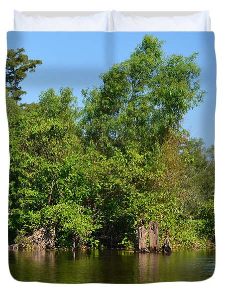 Atchafalaya Basin 46 Duvet Cover by Maggy Marsh