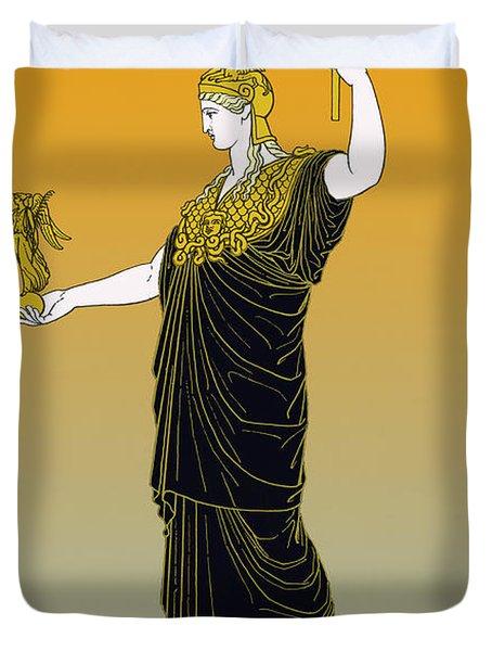 Athena, Greek Goddess Duvet Cover by Photo Researchers