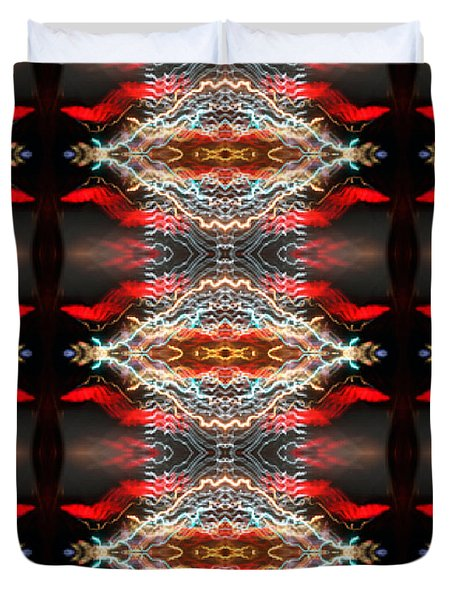 Atlantic City Lights Duvet Cover by Glennis Siverson