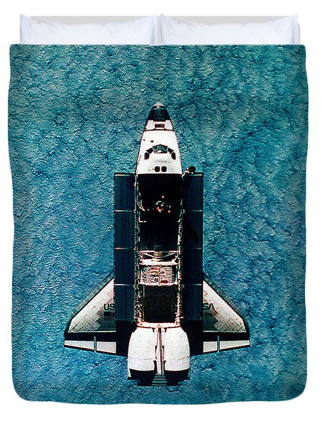 Atlantis Space Shuttle Duvet Cover by Science Source