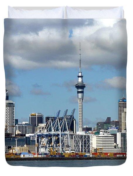 Auckland Skyline Duvet Cover by Carla Parris
