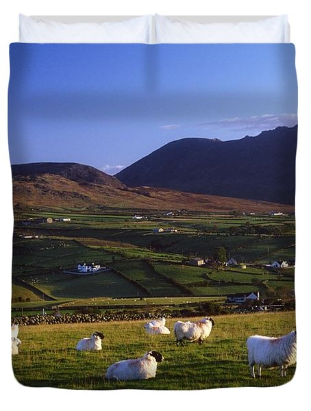 Aughrim Hill, Mourne Mountains, County Duvet Cover by Gareth McCormack