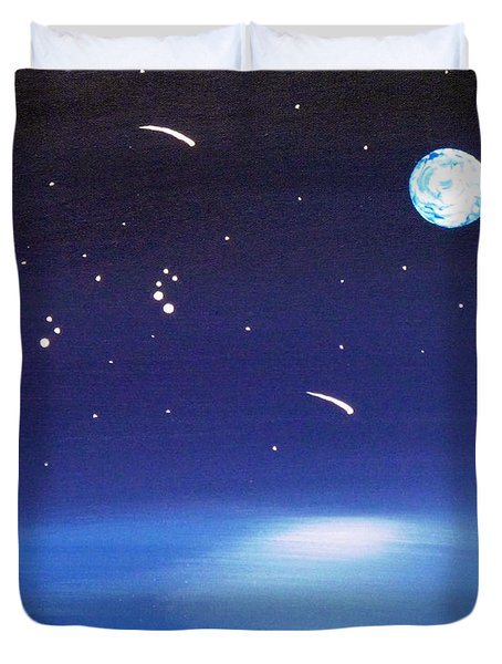 August Celestial Trinity Duvet Cover by Alys Caviness-Gober