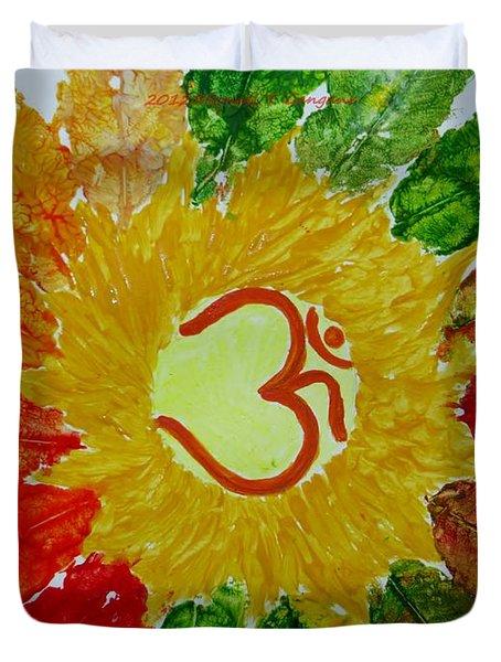 Aumkar Mandala Duvet Cover by Sonali Gangane