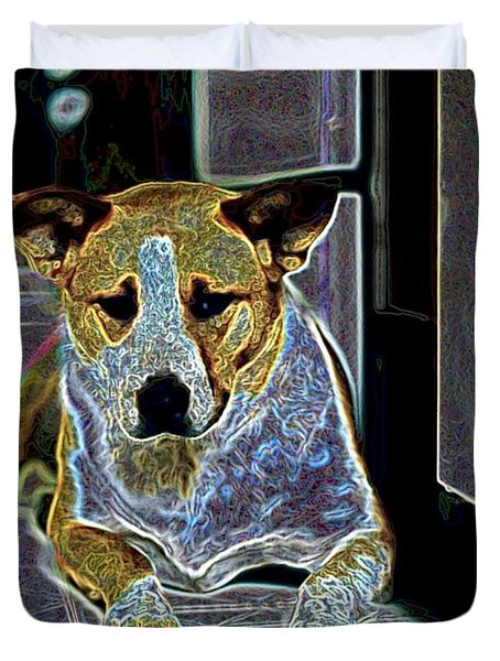 Australian Cattle Dog Boxer Mix Duvet Cover by One Rude Dawg Orcutt