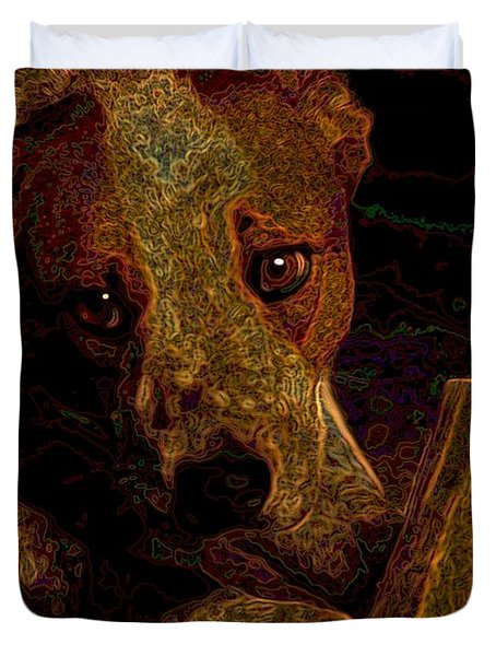 Australian Cattle Dog Duvet Cover by One Rude Dawg Orcutt
