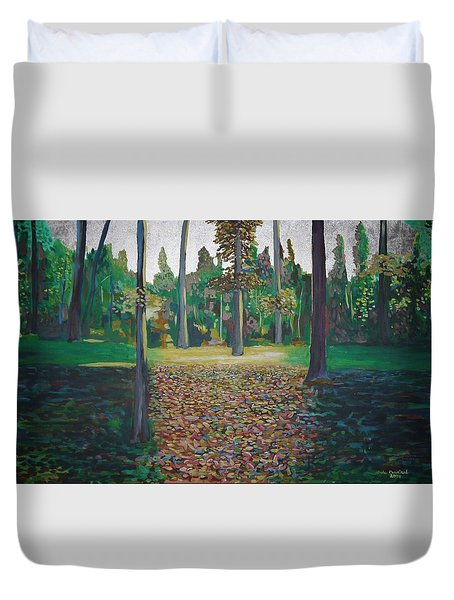 Autum Light Duvet Cover by Jarle Rosseland