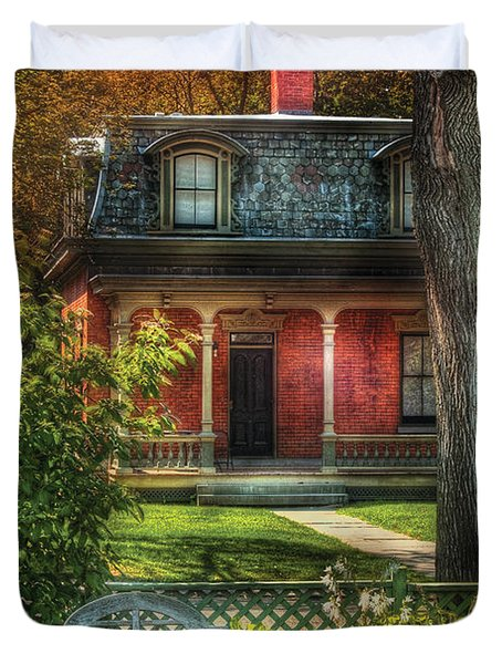 Autumn - House - The Estates Duvet Cover by Mike Savad