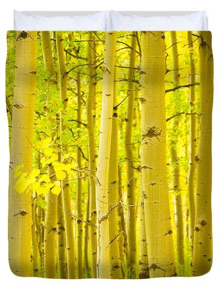 Autumn Aspens Vertical Image  Duvet Cover by James BO  Insogna