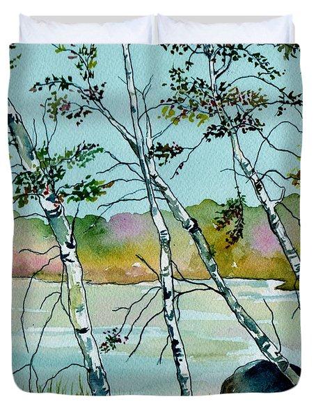 Autumn Birches Duvet Cover by Brenda Owen