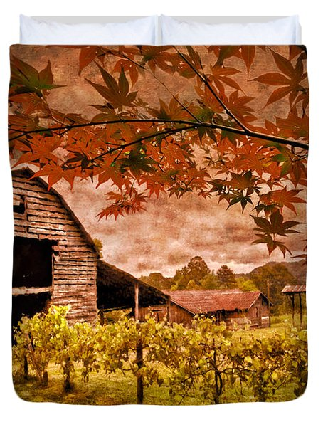 Autumn Cabernet Duvet Cover by Debra and Dave Vanderlaan