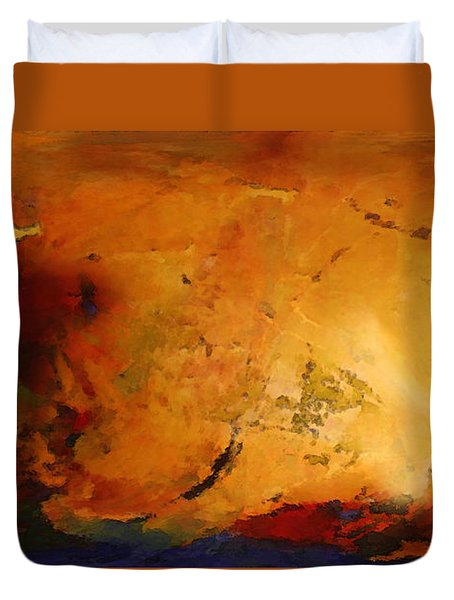 Autumn Canvas Duvet Cover by Carol Cavalaris