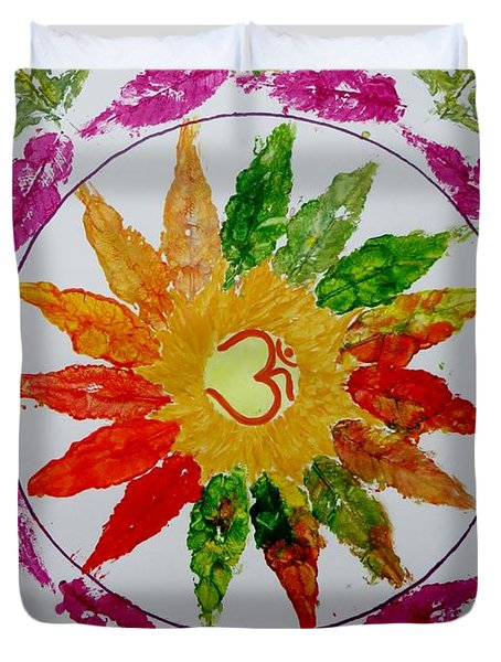 Autumn Chakra Duvet Cover by Sonali Gangane