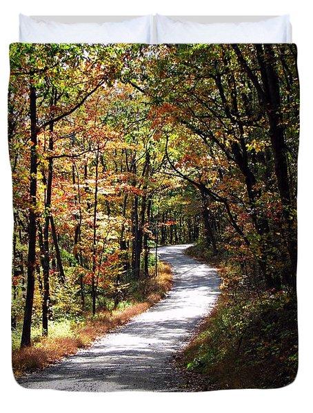 Autumn Country Lane Duvet Cover by David Dehner