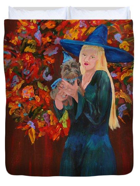 Autumn Fantasy Duvet Cover by Gail Daley