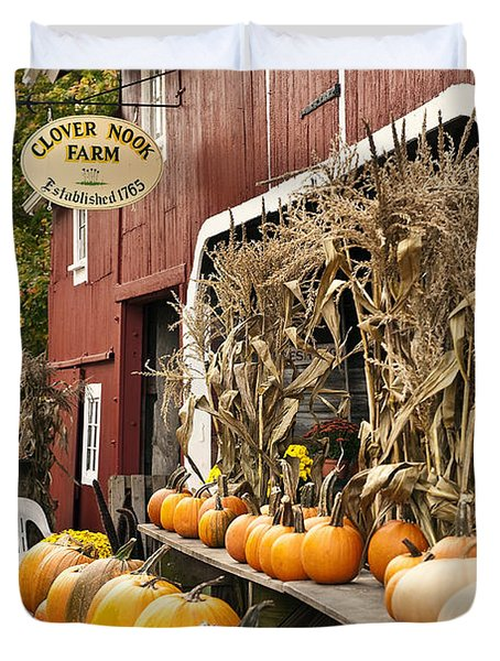 Autumn Farm Stand  Duvet Cover by John Greim